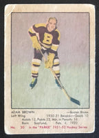 1951-52 Parkhurst #30 Adam Brown RC Rookie Vintage Hockey