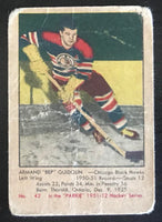 1951-52 Parkhurst #42 Bep Guidolin RC Rookie Blackhawks Vintage Hockey
