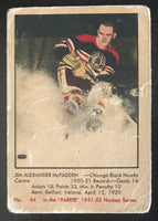 1951-52 Parkhurst #44 Jim McFadden RC Rookie Blackhawks Vintage Hockey