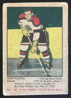 1951-52 Parkhurst #46 Lee Fogolin RC Rookie Blackhawks Vintage Hockey