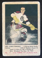 1951-52 Parkhurst #51 Pete Babando RC Rookie Blackhawks Vintage Hockey