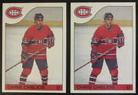 1985-86 Topps #51 Chris Chelios MINT NHL Hockey Lot of 2 Cards