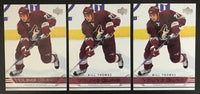 2006-07 Upper Deck #234 Bill Thomas Young Guns YG Rookie RC Lot of 3