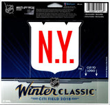 "Wincraft New York Rangers Winter Classic Multi-Use Decal Sticker 5""x6"""
