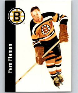 1994-95 Parkhurst Missing Link #2 Fern Flaman Bruins NHL Hockey