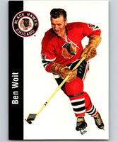 1994-95 Parkhurst Missing Link #40 Ben Woit Blackhawks NHL Hockey