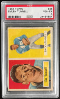 1957 Topps #35 Emlen Tunnell VG/EX Very Good/Excellent Football NFL Eagles PSA 4
