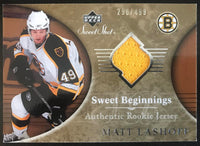 2006-07 Upper Deck Sweet Shot #107 Matt Lashoff RC Rookie 290/499 06763
