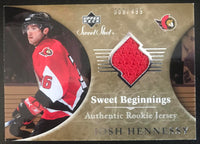2006-07 Upper Deck Sweet Shot #140 Josh Hennessy RC Rookie 388/499 06796