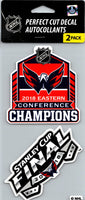 Washington Capitals 2018 Champ's Perfect Cut Decal/Sticker Set of 2 NHL 4x4