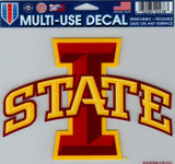 "Iowa State University Multi-Use Decal Sticker 5""x6"" Clear Back"