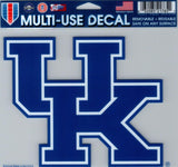 "University of Kentucky Multi-Use Decal Sticker 5""x6"" Clear Back"
