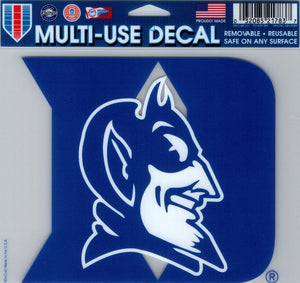"Duke University Multi-Use Decal Sticker 5""x6"" Clear Back"