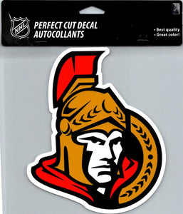 "Ottawa Senators Perfect Cut 8""x8"" Large Licensed Decal Sticker"