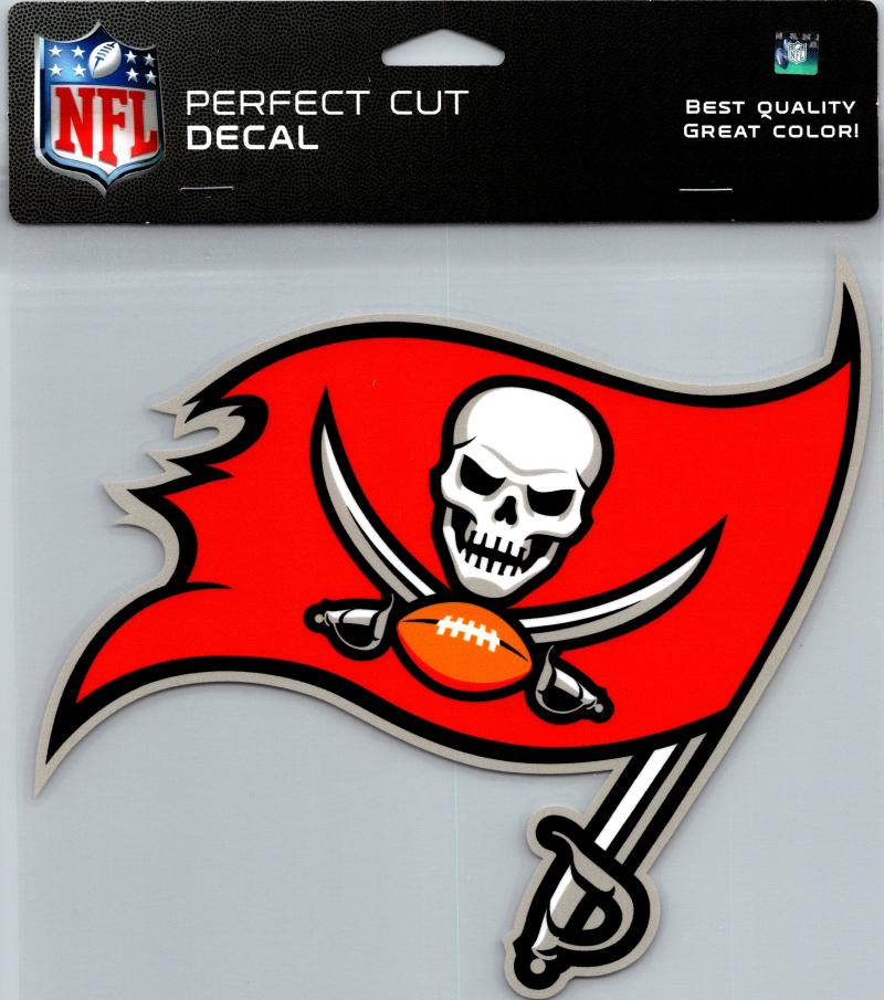 "Tampa Bay Buccaneers Perfect Cut 8""x8"" Large Licensed NFL Decal Sticker"