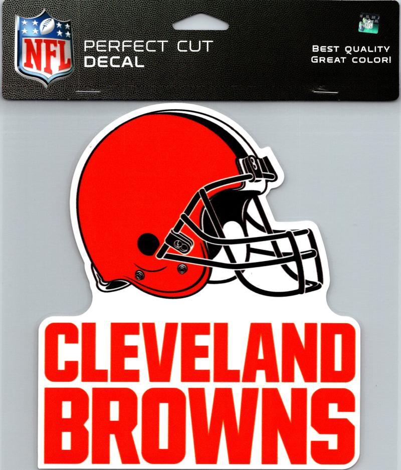 "Cleveland Browns Perfect Cut 8""x8"" Large Licensed NFL Decal Sticker"