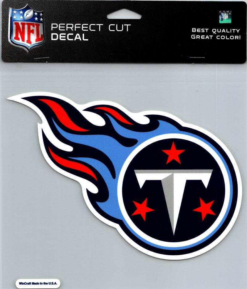 "Tennessee Titans Perfect Cut 8""x8"" Large Licensed NFL Decal Sticker"