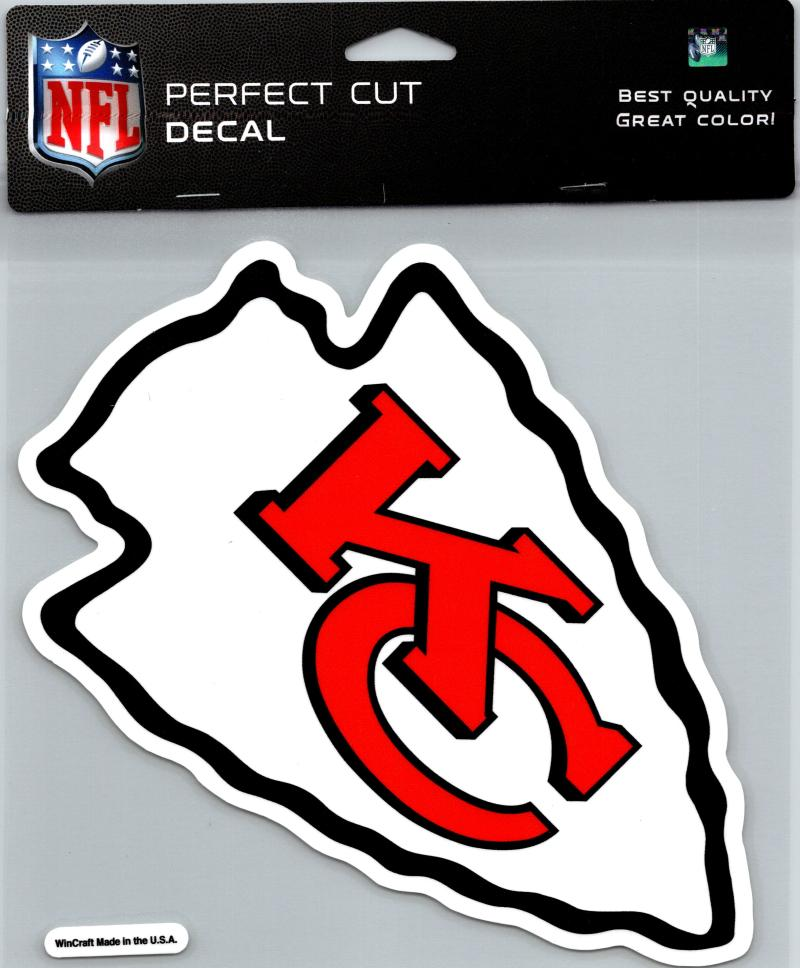 "Kansas City Chiefs Perfect Cut 8""x8"" Large Licensed NFL Decal Sticker"