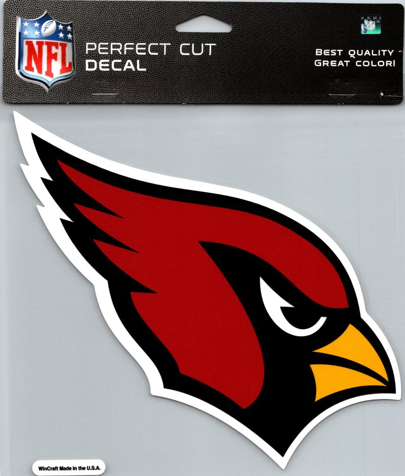 "Arizona Cardinals Perfect Cut 8""x8"" Large Licensed NFL Decal Sticker"
