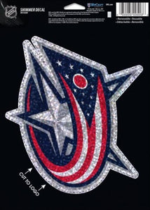 "Columbus Blue Jackets Holographic Shimmer 5""x7"" NHL Perfect Cut Sticker Decal"
