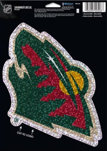 "Minnesota Wild Holographic Shimmer 5""x7"" NHL Perfect Cut Sticker Decal"