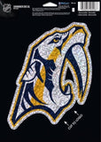 "Nashville Predators Holographic Shimmer 5""x7"" NHL Perfect Cut Sticker Decal"