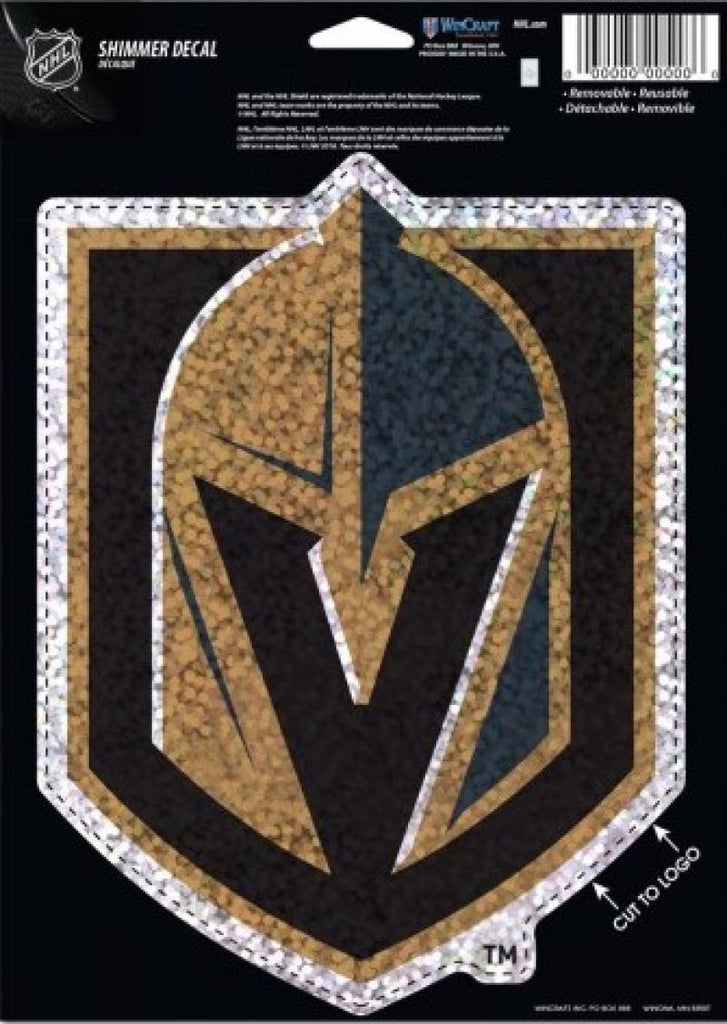 "Vegas Golden Knights Holographic Shimmer 5""x7"" NHL Perfect Cut Sticker Decal"