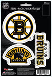 "Boston Bruins 8"" x 5.25"" Die-Cut Premium Vinyl Decal Sheet Set of 3"