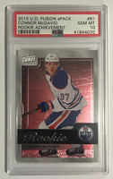 2015-16 Upper Deck Fusion CONNOR McDAVID PSA 10 Rookie RC UD