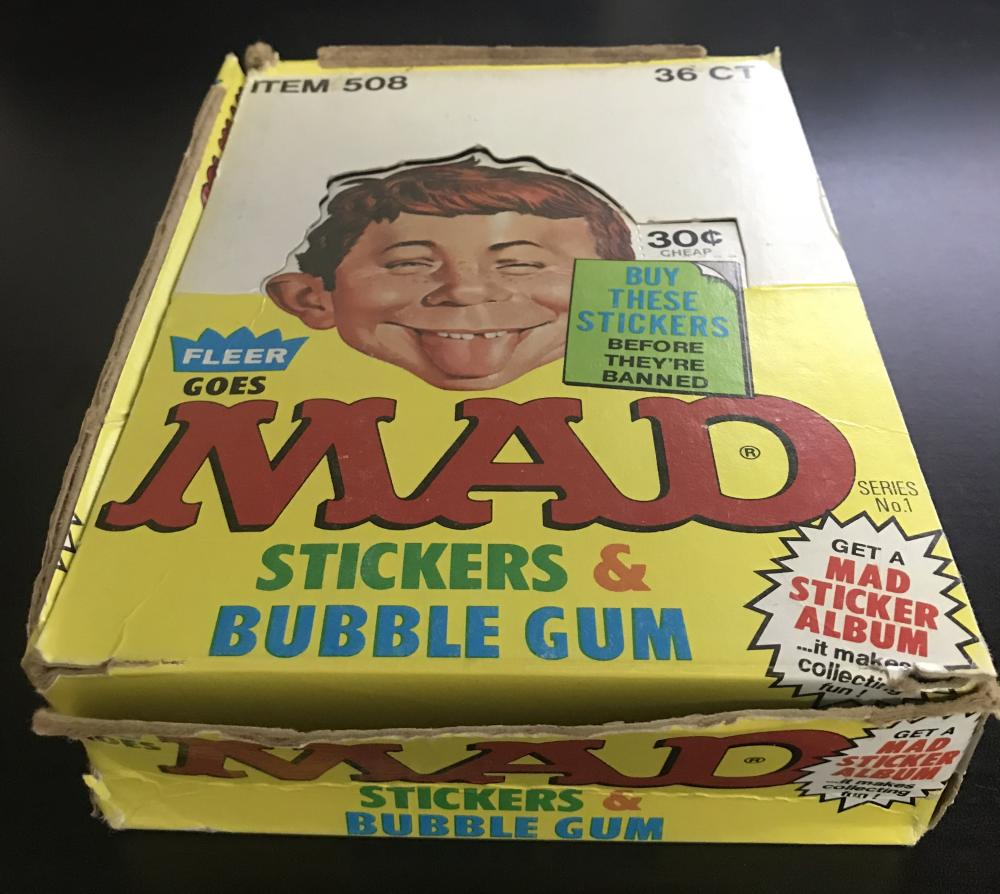1983 Fleer MAD Magazine Empty Display Card Hobby Box **VERY RARE**