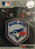 "Toronto Blue Jays 2.5"" x 3.5"" Shield Reflector Decal MLB Licensed Authentic"