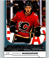 2017-18 Upper Deck #497 Andrew Mangiapane Young Guns Flames YG RC 06886