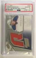 2015-16 Upper Deck SPX Retro Rookie Fabrics Connor McDavid RC PSA 10 GEM MINT
