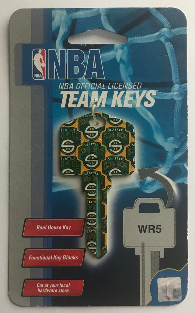 Seattle Supersonics NBA Basketball Licensed Metal Team Key Blank WR5