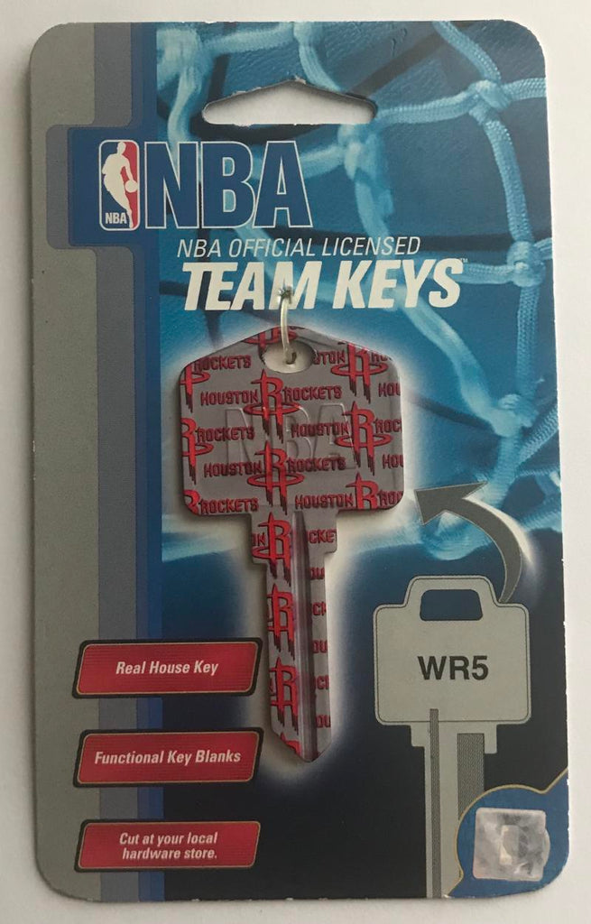 Houston Rockets NBA Basketball Licensed Metal Team Key Blank WR5