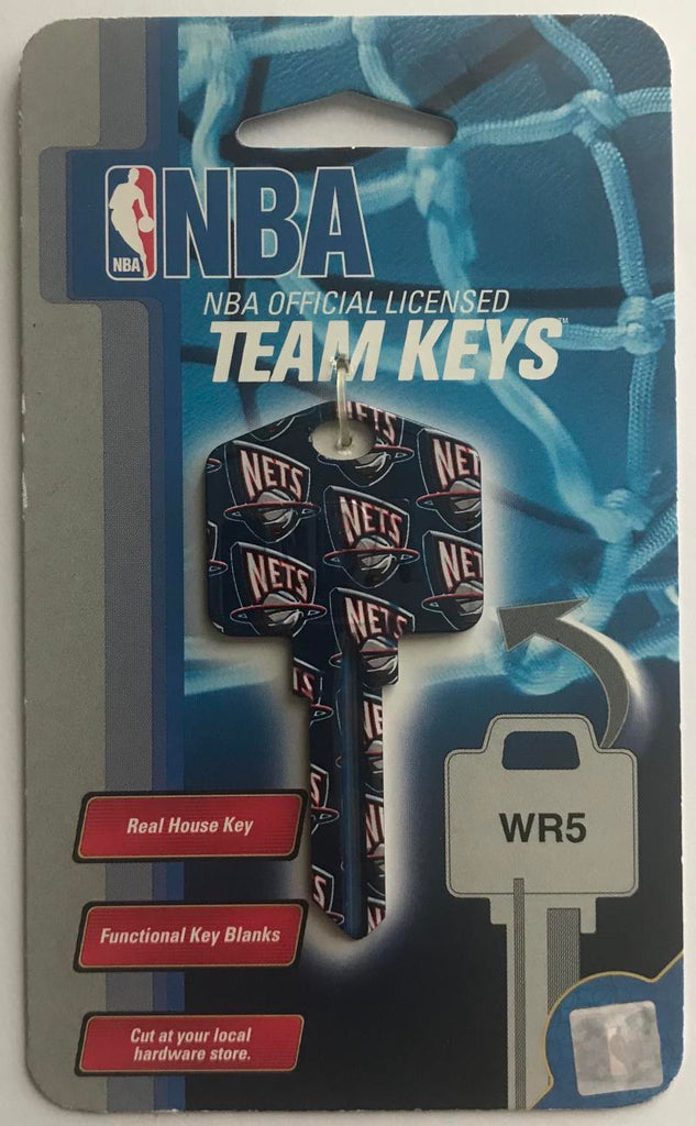 New York Nets NBA Basketball Licensed Metal Team Key Blank WR5