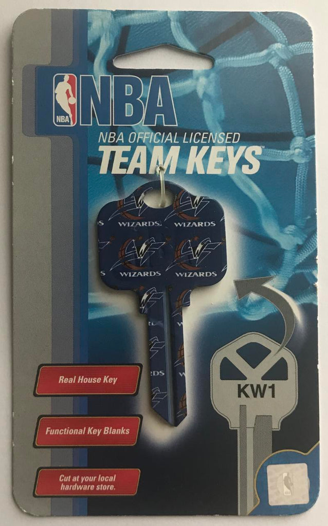 Washington Wizards NBA Basketball Licensed Metal Team Key Blank KW1