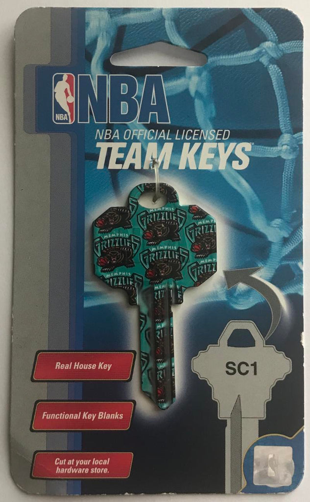 Memphis Grizzlies NBA Basketball Licensed Metal Team Key Blank SC1