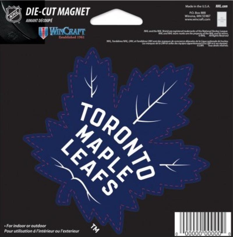 "Toronto Maple Leafs NHL Die Cut Magnet 5"" x 5"" - Indoor or Outdoor"