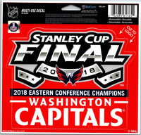 Washington Capitals 2018 Eastern Champ's Multi-Use Decal Sticker 5