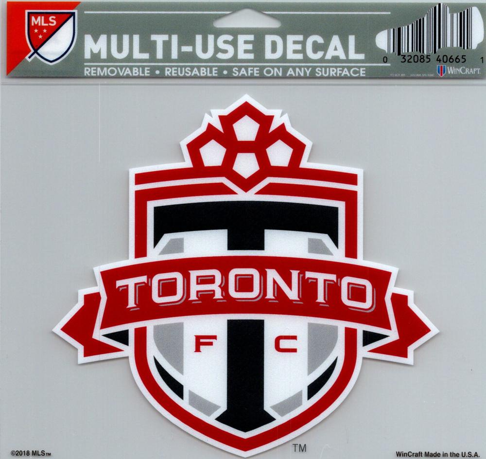 "Toronto FC Soccer Multi-Use Decal Sticker 5""x6"" Clear Back"