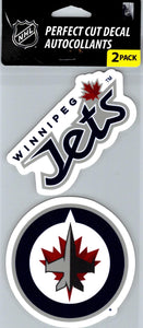 "Winnipeg Jets Perfect Cut 4""x4"" Decal Sticker Pack of 2"