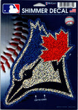 "Toronto Blue Jays  Holographic Shimmer 5""x6"" MLB Perfect Cut Sticker Decal"