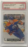 2015-16 Upper Deck Portfolio #330 Connor McDavid PSA 10 GEM MINT RC Rookie -1820