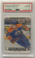 2015-16 Upper Deck Portfolio #330 Connor McDavid PSA 10 GEM MINT RC Rookie -1584