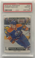 2015-16 Upper Deck Portfolio #330 Connor McDavid PSA 10 GEM MINT RC Rookie -1823