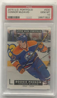 2015-16 Upper Deck Portfolio #330 Connor McDavid PSA 10 GEM MINT RC Rookie -1822
