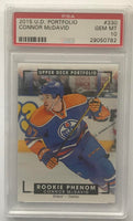 2015-16 Upper Deck Portfolio #330 Connor McDavid PSA 10 GEM MINT RC Rookie -0782