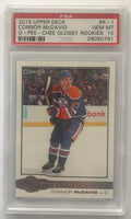 2015-16 Upper Deck O-Pee-Chee Glossy Connor McDavid PSA 10 RC Rookie -0791