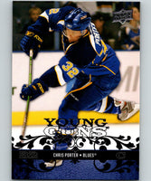 2008-09 Upper Deck #216 Chris Porter RC Rookie Blues YG Young Guns 06934